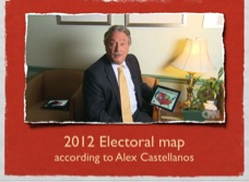 Alex Castellanos (top media adviser to George W. Bush&#39;s 2004 and Mitt Romney&#39;s 2008 campaigns) believes that Romney has 206 as safe, and 42 more as leaning towards Romney.  