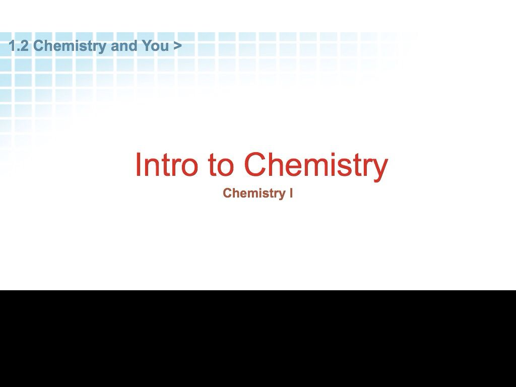 how chemistry affects my life
