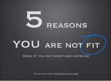 Five reasons you are not fit!