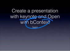 You can create your presentation with keynote use bContext to record the delivery and share.