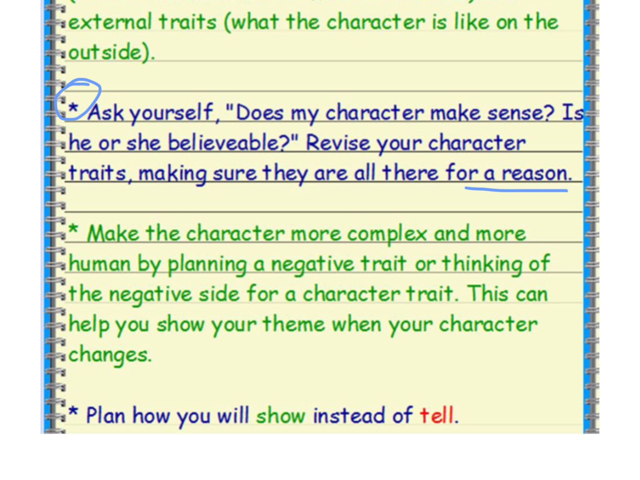 Create your characters' problem, negative character traits, and motivation (what s/he wants).